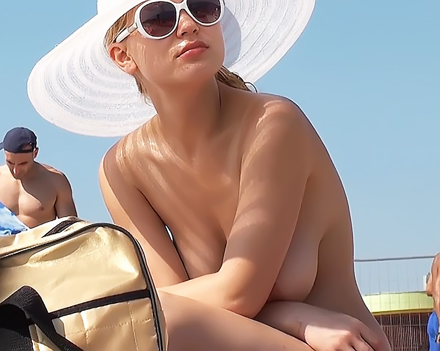 Topless On Spanish Beach 2