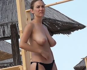 Topless Wife: Near The Beach