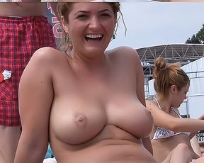 Sexy Girls Bare-Breasted At Strand - Video