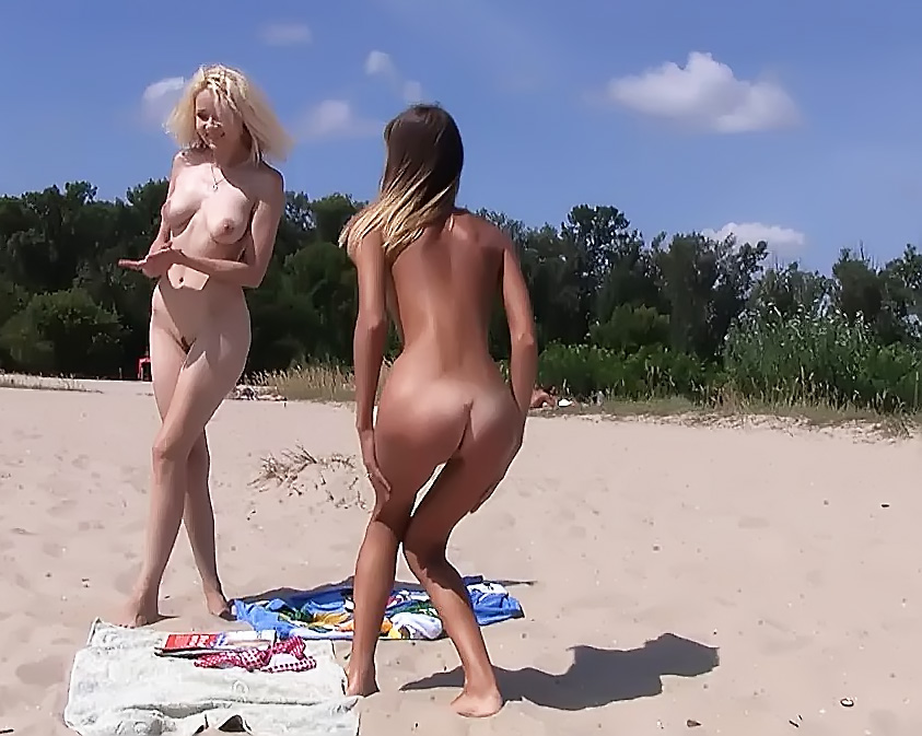 Young Nudist girls Takes Exercises