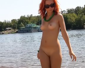 Nude Beach - Cute girl girl funed   Facialised