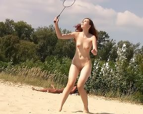 Nudist girls have fun