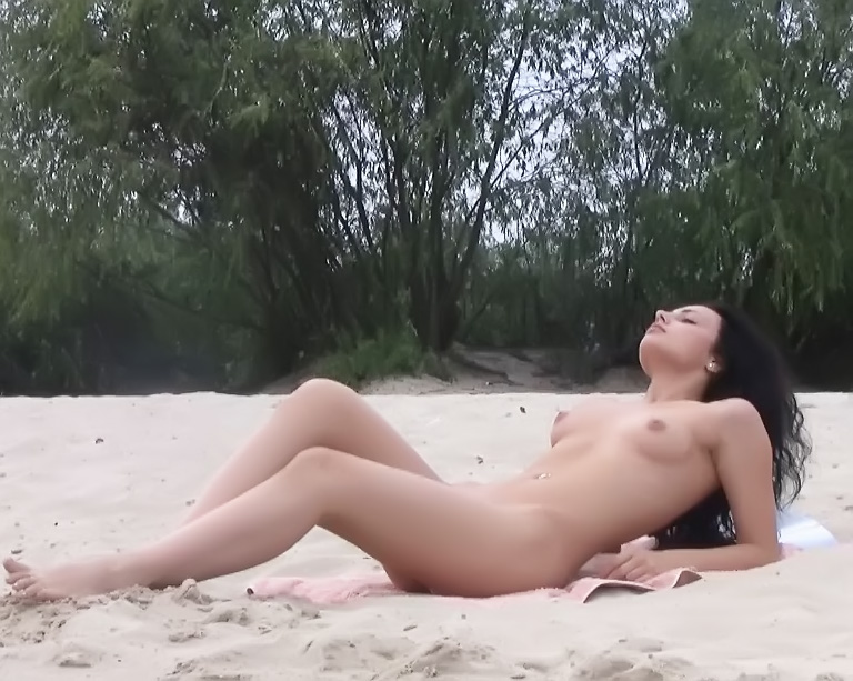 Every inch of this gorgeous nudist is on display