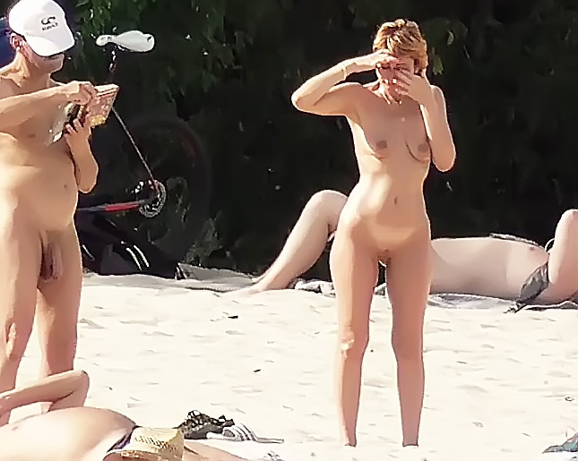 Look at this slim Russian naturist getting a tan 1