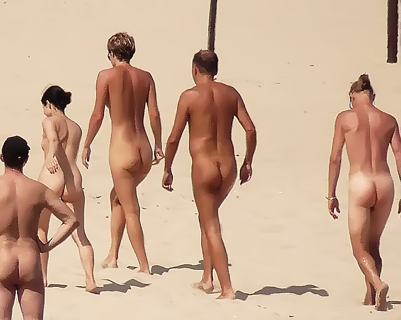 DEcember  Canary Islands on the Nude Strand
