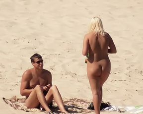 A public plage can't keep these female naturists down