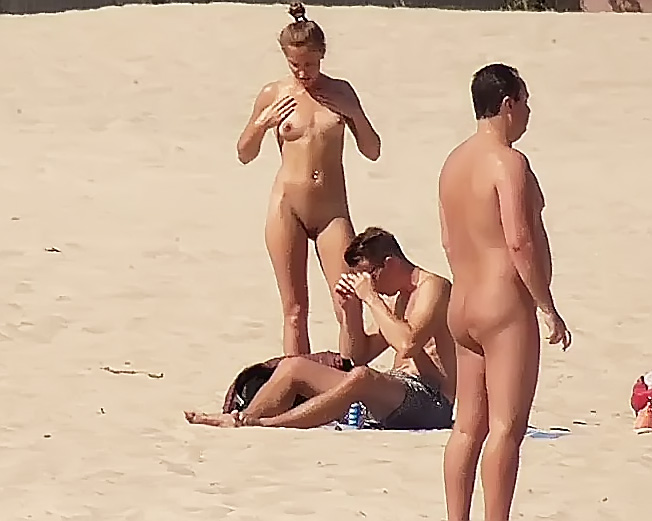 First time on a true nude plage.