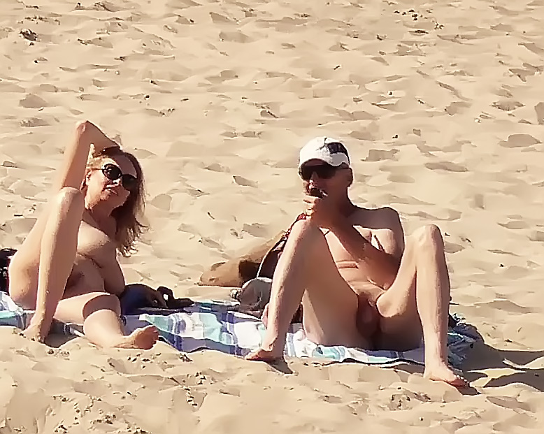 Helping Hand at the Naturist Strand