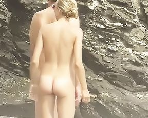 Perfect baps and ass on this beautiful nymph naturist