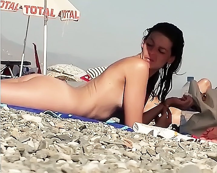 Hairy Slut on a Nude Plage