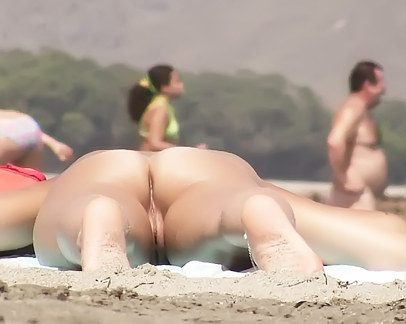 Fun on the nude strand