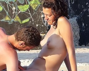 Amazing youthfull naturists touch each other's bodies 1