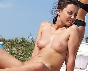 Check out gorgeous chick naturists having some fun