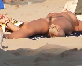 At naturist plage, cA?te d'azur, France