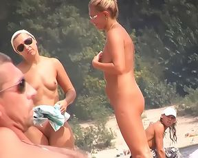 Everyone is excited when this naturist lady shows up 2