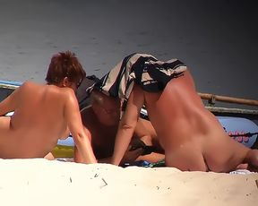 Jacqueline Lovell and girlfriend on nude beach 2