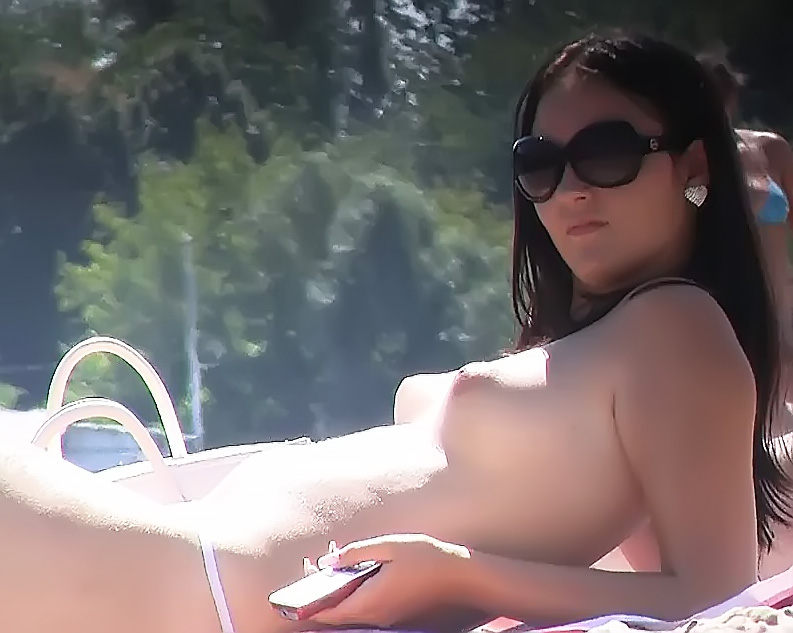 My wife on a nude beach in Greece. 2
