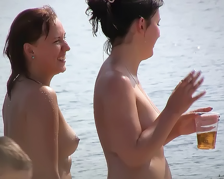Barely legal naturist babe lights up at the plage 2