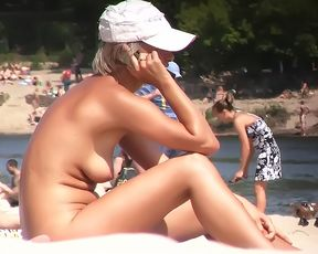 Here we are on our first trip to the nude beach 2