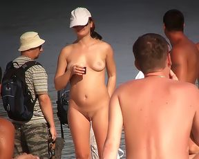 just a day at the nude plage  kerry just loves the feel of the sun on her body 2