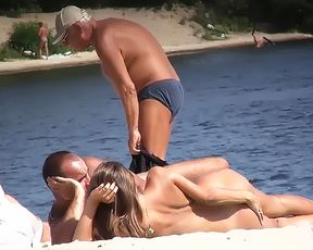 chick Russian naturist flashes the cameraman 3