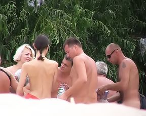 Nude Beach - Cute Enthusiastic girl funed 3