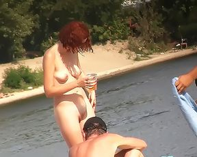 Jacqueline Lovell and girlfriend on nude strand 5