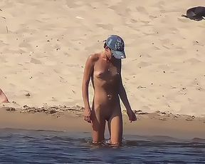 Exhibitionist Wife Morgan First Time At The Nude Plage! 3