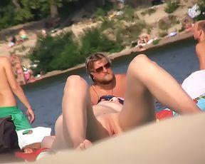 Shy couple caught on the nudist beach 3