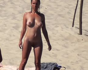 barely legal years elder  nubile naturist at strand