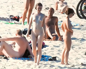Out and about during nudist week